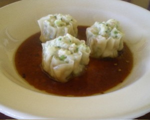 My photo of a delicious shu mai appetizer did not come out well, so I borrowed this from their website.
