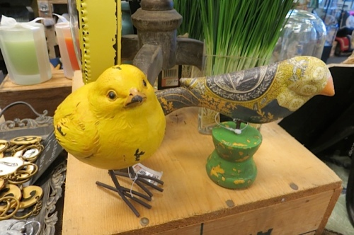 The yellow bird was my cash mob purchase!