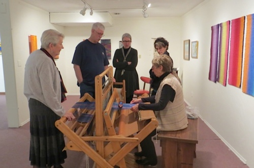 Clatsop Weavers and Spinners Guild gave demonstrations during the reception.