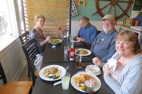 lunch mob with Nancy,Fred, Allan and Jan