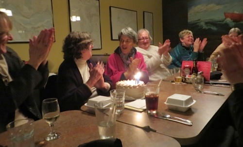 applause, and a big hello to Ann, to Patricia's right, who reads this blog.  Thanks, Ann!