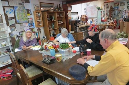 writers group:  Jamie, Bette, Birdie, Robert