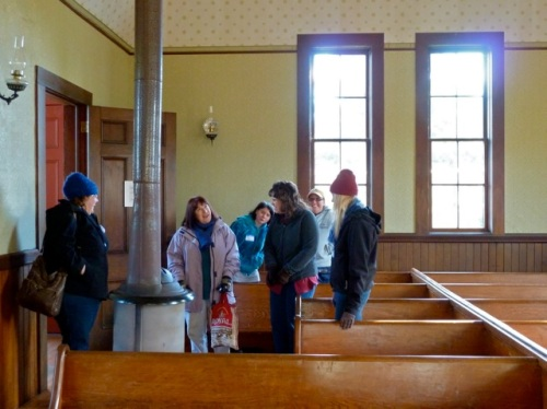 Meanwhile, Allan was inside the church with the rest of the tour group.
