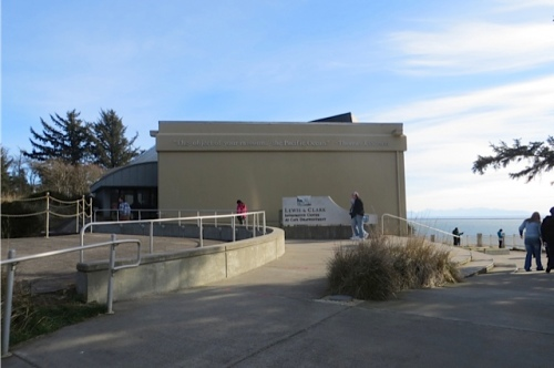on a bluff overlooking the ocean, the museum