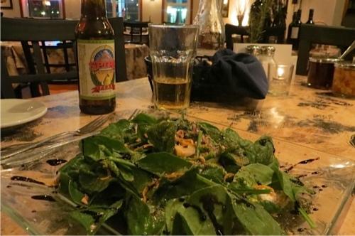 a delicious spinach salad