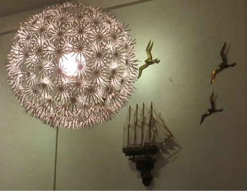 Allium shaped chandelier