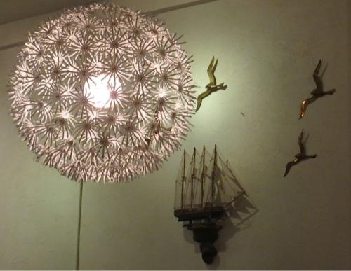 Allium shaped chandelier