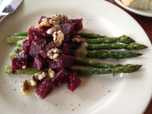 Asparagus and Roasted Beet Salad...as delicious as it is beautiful.