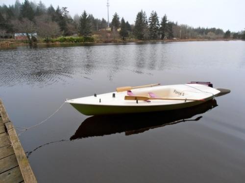 Allan's boat on Black Lake