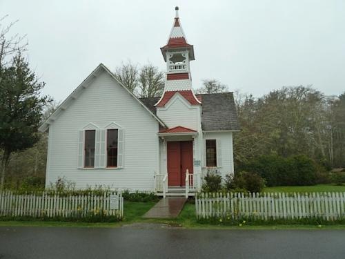 next door: the Oysterville church