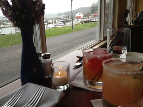 our drinks:  Ilwaco Sunrise and a Grapefruit Margarita