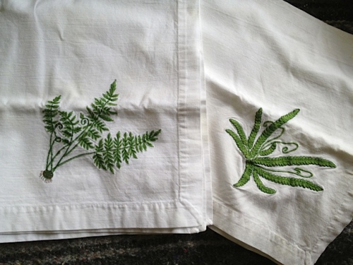 fern dish towels from cash mob at The Oysterville Store (and some huckleberry jam)