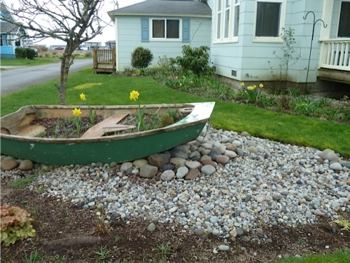 garden boat in bloom at Larry and Robert's