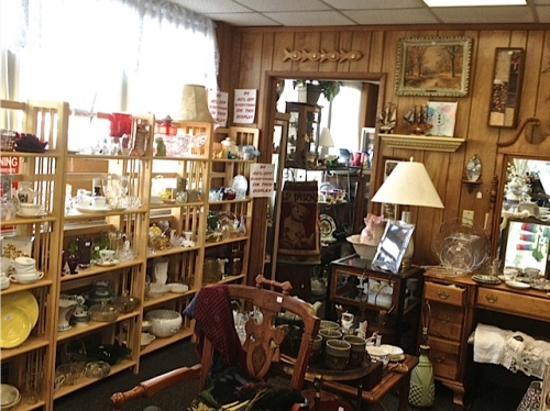 inside the Antique Gallery at First and Lake.