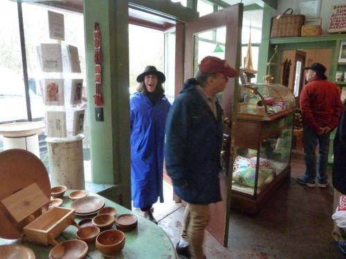and Lisa and Buzz of Crank's Roost and the hydrangea house