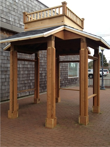 Next to the carousel, a brand new gazebo to replace a weather beaten one.  I hope the interesting old photos are returned.