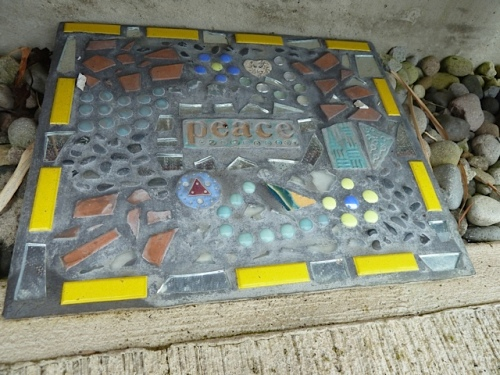 a mosaic that Jamie made