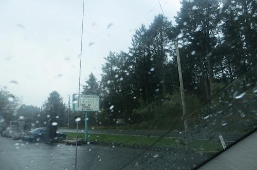 when we got there: rain!