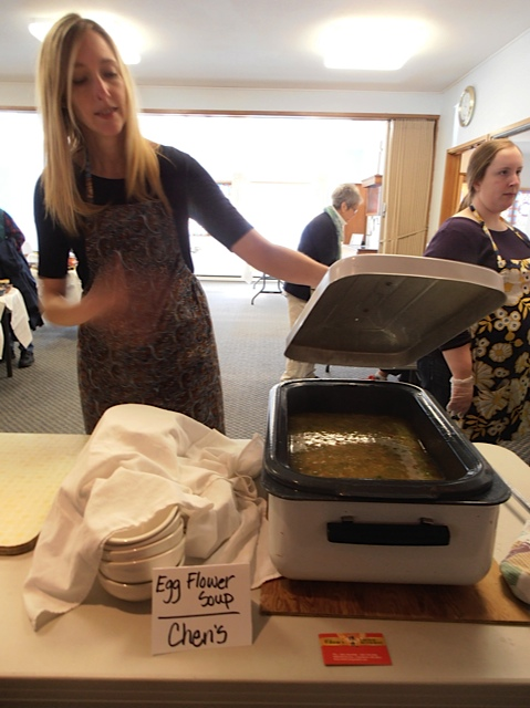 Soup donated by local restaurants.