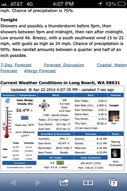 and at 642.weather.com, I saw the wind had been 27 mph at their Sandridge Road weather station, inland so usually less windy.