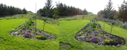 one of three big beds, before and after, well worth it, I think.