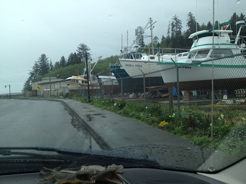 dark skies at the Ilwaco boatyard
