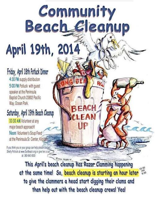 Fortunately, beach clean up is midmorning!