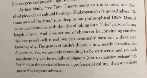 The idea of Free Trait Theory is a revelation to me.