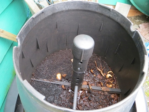 inside the composter