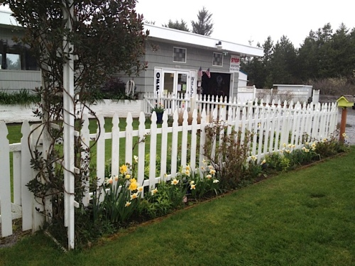 picket fence and office