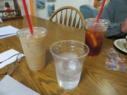 We repaired to Olde Towne Café for some hydration.