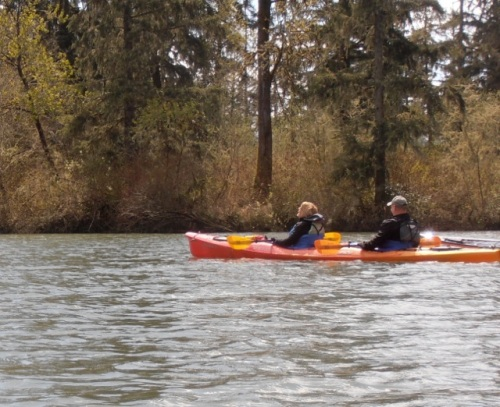 The tandem kayak the other couple got to use. These sell for over 2 grand and are very stable and fast