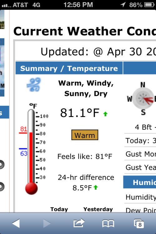 It certainly did feel like 81.1 degrees.