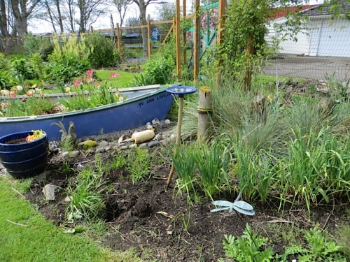boat garden, north side, ready for scree...except must wait till garlic harvest to have the whole space