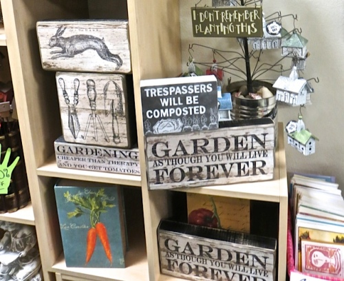 """I identify with that sign """"I don't remember planting that."""""""