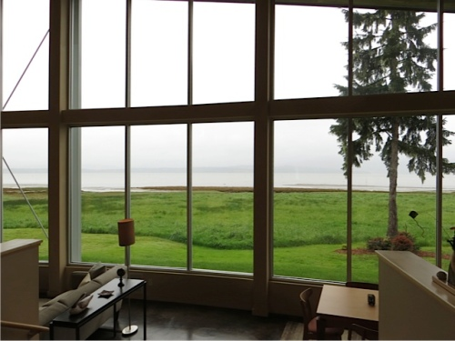 the view, east over Willapa Bay