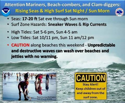 There is a warning on for later this weekend.