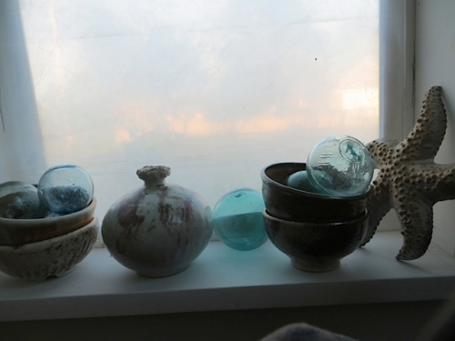Nancy's windowsill, from my chair while eating snacks.