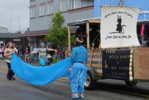 The Beach Belly Dancers hail from Painted Lady Lavender Farm in Ilwaco.