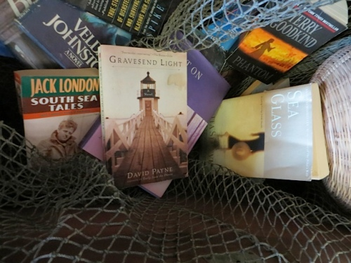 and a trunk full of nautical books