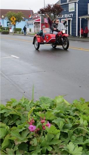 geranium and biker