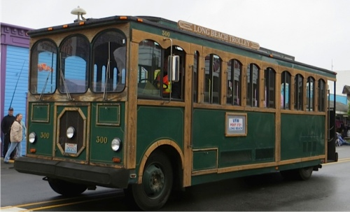 The lovely Long Beach trolley
