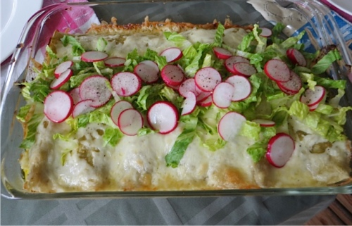 Nancy made enchiladas a la Martha Stewart