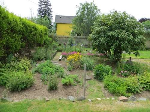 Our weeding and mulching from mid spring has held up well.