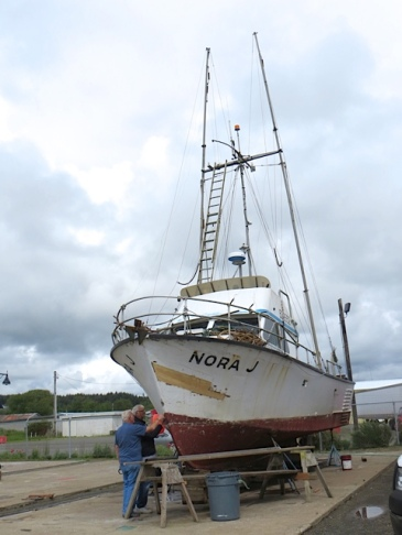 The Nora J; this is not the boat named Nora after my former neighbour, Nora Jane.