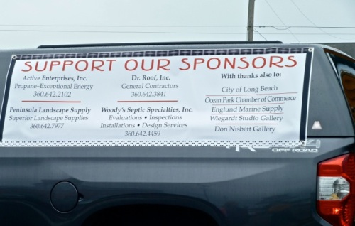 sponsors of the pipers including some friends and clients of ours