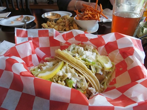 fish tacos...just $2 each on Thursdays!