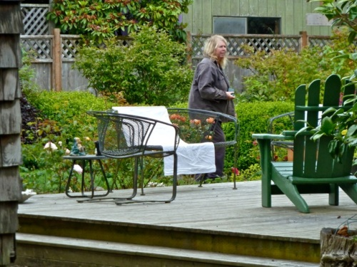 me in Patti's back garden