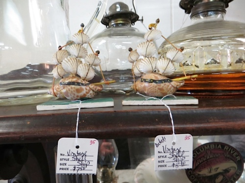 I was also smitten with, but resisted buying, these little boats.