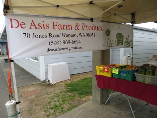De Asis Produce, at the market every Saturday, and then at the Astoria Sunday Market
